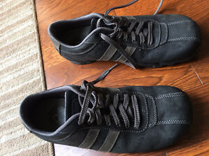 Men's Skechers Lace-up Casual Oxford Shoe -Dark Gray Leather 8.5