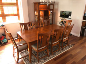 Oak Dining Room 10 piece set for sale