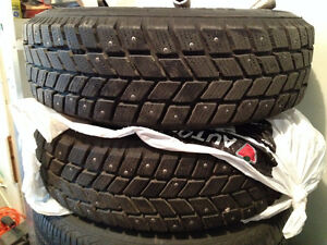 2 Studded Winter Tires i*Pike RC01 195-70R14 Regina Regina Area image 1