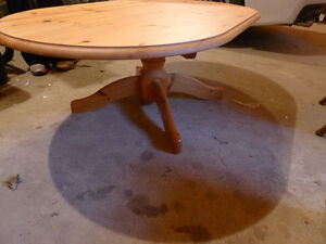 Solid Pine Coffee Table (Oval)