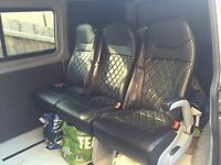 VW triple rear seats