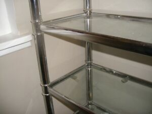 Over the Toilet Glass Shelving Unit