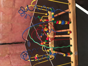 Intricate baby wooden activity maze learning centre!!