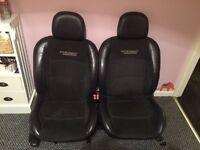 Renault Clio sport seats full set. Half leather.