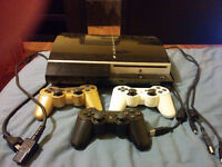PS3, 8 games, 3 controllers