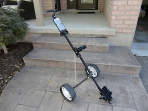 Gold Eagle Folding Golf Bag Pull Cart in Excellent Shape