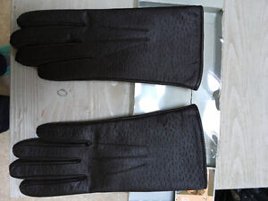 7 1/2 brown leather gloves brand new