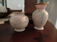 (2) Small Very Pretty CHERISH PORCELAIN VASES (Made In Canada)