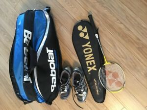 Kit pour jouer au badminton (Raquette, Sac, Espadrilles) Adulte
