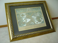 William Blaeu Gold Foiled Wall Map