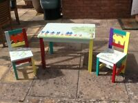 Kids table and two chairs