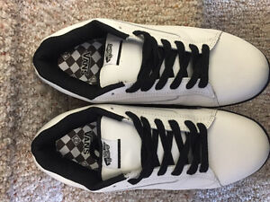 "New! Vans ""no skool"" white leather shoes men's size 13"