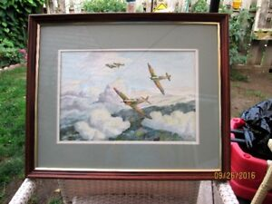 War Plane Painting by A.E. Beckley '93