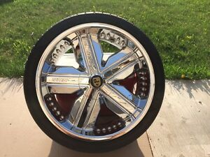 "Lexani Arnage 20"" Rims And Tires"