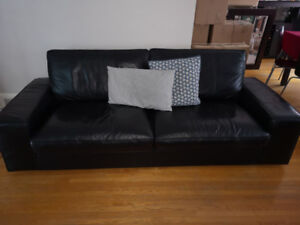 IKEA KIVIK Leather Sofa