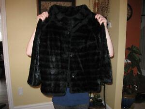 fake fur short coat