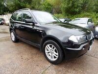 BMW X3 2.0D (11 MONTH MOT + LOW RATE FINANCE AVAILABLE) (black) 2006