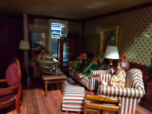 Antique Doll House with furniture