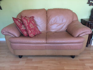 Italian soft leather two seater sofa, couch