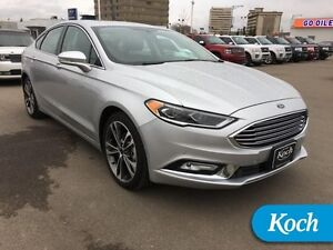 2017 Ford Fusion Titanium  Moonroof, Park Assist, Cooled Seats,