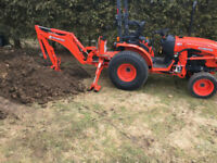 Post hole digging , setting and excavation services