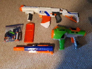 Nerf guns and accessories!