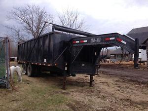 20 Tonnes Gooseneck Dump Trailer