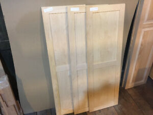 3 New Double Panel Solid Wood Maple Cabinet Doors