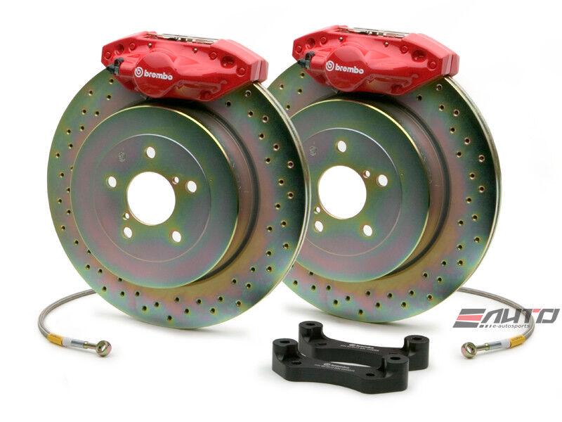 Brembo Rear Gt Brake 2pot Caliper Red 316x20 Drill Disc For Frs Gt86 Brz Wrx