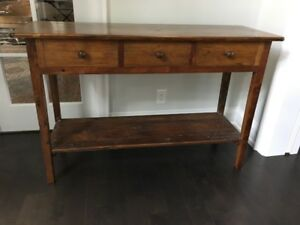 Murron's Cabinetree Huntboard 3 Drawer Sofa Table