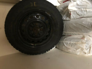 4 Winter Car tire and rims