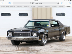 Wanted 1970-1972 Chevrolet Monte Carlo