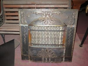 Fireplace Insert Antique Brass 85 lb Electric 30 inch x 30 inch