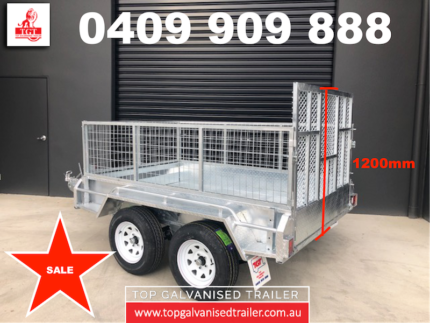 8x5 RAMP BOX TRAILER HOT DIP GALVANISED WITH 600MM CAGE Keysborough Greater Dandenong Preview