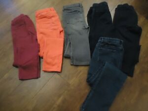 Girls Colored Jeans /Jeggings - Like New