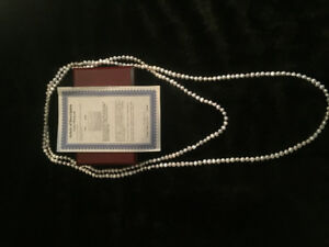 Pearl Necklace 100in cultured pearls 8-9mm