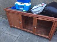 Few month old rabbit hutch .