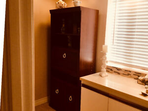 CABINET - BEAUTIFUL WOOD CABINET, VERY VERSATILE !