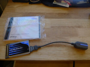 IBM 10/100 EtherJet CardBus Network Laptop Card w/Cable