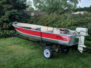 Meyers 14 ft with 15hp johnson and trailer