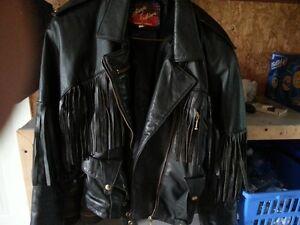 2 pcs leather bikers suit