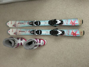 Rossignol kids skis with boots