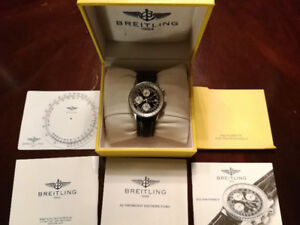 Breitling Navitimer II with Box/Manuals 1987 NEGO!!