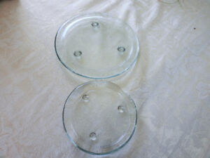 2 Glass Candle Holders $8.00 for both