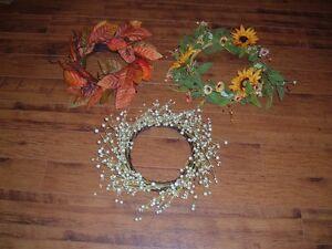 Three Decorative Wreaths