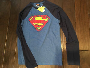 Men's Small Superman Long-sleeved Shirt