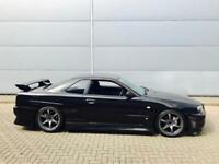 1999 V Nissan Skyline R34 2.5 GTT Turbo Manual + Black + Body Styling KIT
