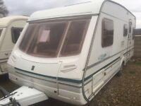 Abbey safari 550/4 2004 fixed bed touring caravan