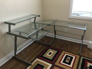 Glass Desk- like NEW!