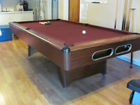 Pool Table - with Ball Return Feature